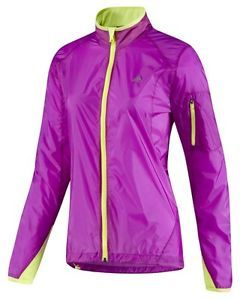 New Adidas Womens Climaspeed Running Training Reflective Jacket Purple Sz s R$65