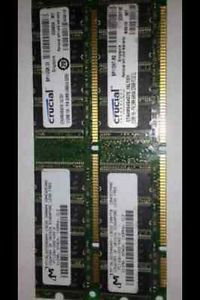 Dell Dimension 2300 4300 1GB 2X 512MB PC133 Non ECC Desktop RAM SDRAM Memory