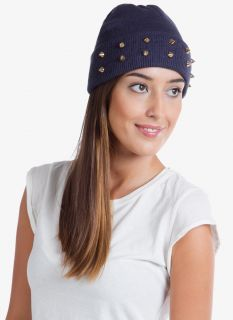 Studded Beanie Hat Cone Spikes Stud Spiked 9 Colors