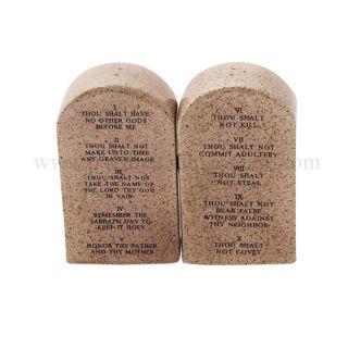 Ten Commandments Tablets Moses Attractives Ceramic Magnetic Salt Pepper Shakers