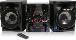 Sony MHC GTR333 Am FM Radio CD MP3 USB iPod Stereo Boombox Speakers Shelf System