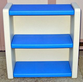 RARE Little Tikes Blue White Childrens Shelf Excellent Condition