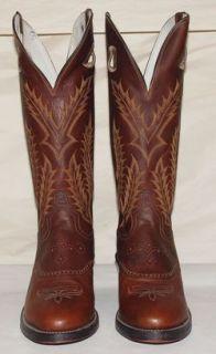 New Tony Lama Cowboy Western Buckaroo Boots Mens 11 D 6891 Wild Bull Saddle