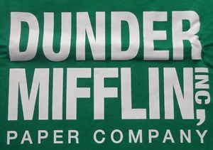 Dunder Mifflin Michael Scott Dwight Office TV Small Kelly Mens T Shirt CLOSEOUT