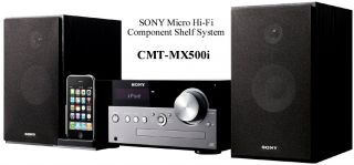 Sony CMTMX500I for iPod iPhone Charging Dock CD Player MP3 Clock Radio Remote