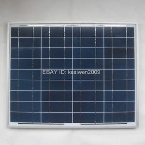 18V 50W Solar Panel Solar PV Module Power Panels Charge 12V Battery System Kit