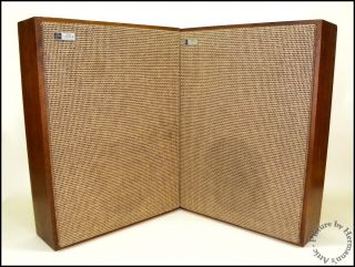 1960's Vintage Fisher KS 1 Anniversary Series Stereo Hi Fi Compact Speakers