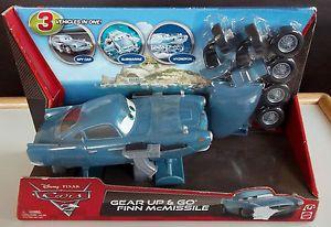 Disney Pixar Cars 2 Gear Up Go Finn McMissile Spy Car Submarine Hydrofoil BNIP