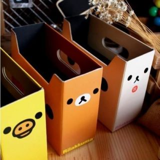 Yellow Chicken Lovely Makeup Perfume Pen Desktop DIY Folding Storage Box A41
