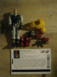 GIJOE Valor vs Venom Backblast Figure with Bonus Spy Troops Gear