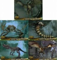 King Kong Video Game Creatures Insert Set 1 5