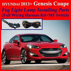 Fog Light Install Kit Wiring Harness for 2013 Hyundai Genesis Coupe MF Switch