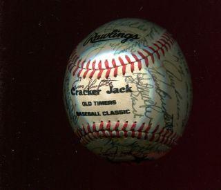 1982 1st Ever Cracker Jack Old Timers Baseball Game Signed Baseball by 36 JSA