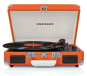 Crosley Cruiser Complete Portable Turntable Record Player Stereo Speakers Orange