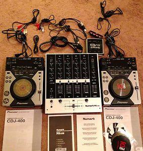 DJ Equiptment Pioneer CDJ 400 Turntables Controller Numark USB M6 Mixer