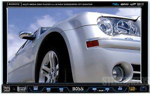 "Boss BV8970 Indash 1 Single DIN DVD CD USB Player 8"" TFT Touch Screen Monitor"