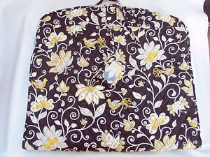 Vera Bradley Black Gold Flowers Garment Bag Travel Case