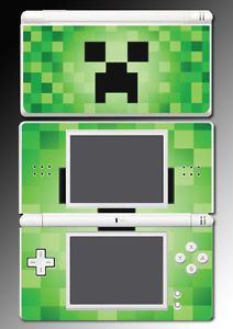 Minecraft Creeper Enemy Mob 3D Block Cube Video Game Skin Cover Nintendo DS Lite