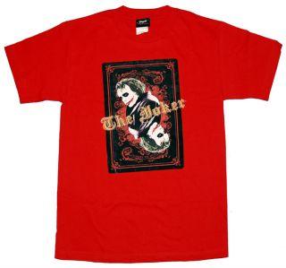 Batman Dark Knight Heath Ledger Joker DC Comics Playing Card T Shirt Tee