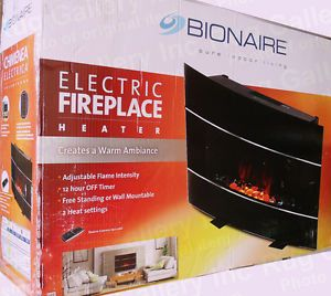 Bionaire Electric Fireplace Air Heater Wall Mount Freestanding Remote BEF6500