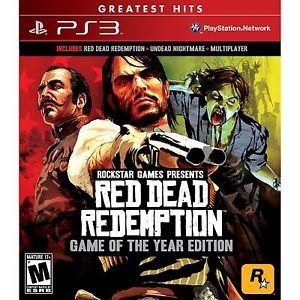 Red Dead Redemption Game of The Year Edition PlayStation 3 Video Game New 710425470066