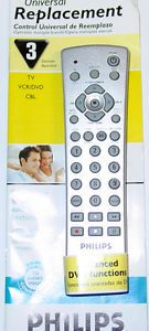Philips Universal TV VCR DVD CBL Remote Control PH301S with Owners Manual