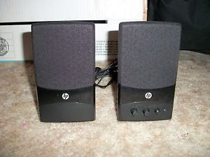 HP Audio Speakers UC 230 Black USB Powered Audio Jack 6 x 3 5 x 3 5 Work Great