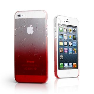 Red 3D Rain Drop Design Hard Case Cover for Apple IPHONE5 iPhone 5 5g Film