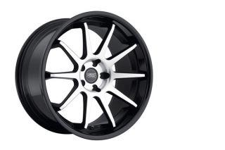 "20"" Concept One CS10 Concave Black Staggered Wheels Rims Fits BMW F30 Sedan"