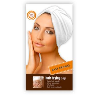 Terry Turban Head Wrap Hair Drying Cap Absorbent Stretch Fabric Machine Wash