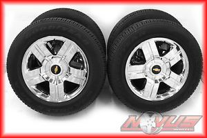 "New 20"" Chevy Silverado LTZ Tahoe GMC Yukon Sierra Chrome Wheels Goodyear Tires"