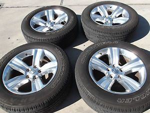 "20"" Dodge RAM 1500 Polished Factory Wheels Goodyear Tires Rims 2453"