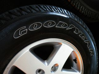 "17"" Factory Jeep Wrangler Wheels Goodyear Tires JK Unlimited Sport Rubicon"