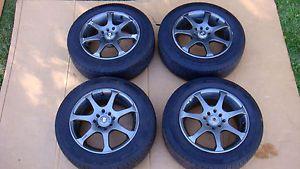 4 Motegi 15x6 5 MR7 Graphite Black Wheels Rims Goodyear Tires 185 65 15 4x100