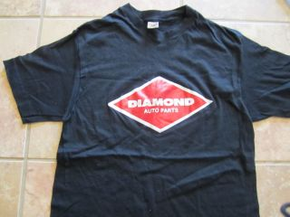 Vintage Diamond Auto Parts Hanes T Shirt Med Hot Rods Car Club