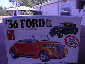 AMT Car Model Kit 1936 36 Ford Coupe Roadster Hot Rods Street 1 25 Anniversary