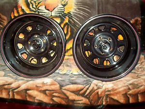"15"" x 10"" Wide Rear Wheels Dodge Ford Hot Rods Rat Rods 5 on 4 1 2"" Powdercoated"
