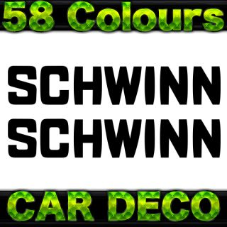 2 Schwinn Bike Frame Decal Stickers Any Colour