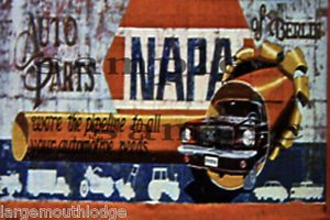 Weathered Building Sign Decal Napa Auto Parts 3x2