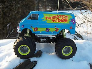 Tamiya Radio Control Monster Truck Scooby Doo Mystery Machine Van Lunch Box Blue