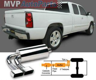 Gibson Super Truck Exhaust System 07 09 Chevy Silverado Sierra 1500 Pickup Truck
