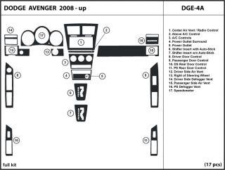 Dodge Avenger 08 10 2008 2009 2010 Wood Dash Kit Trim Tuning Dashboard DGE 4A