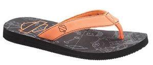 NWT Harley Davidson Kids Hansel Flip Flops Sandals Shoes