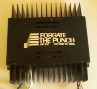 Rockford Fosgate The Punch PR 250 Amplifier 100 Watts RMS Amp PR250 Vintage