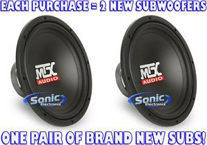 "2 MTX TN12 02 TN1202 12"" Single 2 Ohm Terminator Car Subwoofers Sub Woofers"