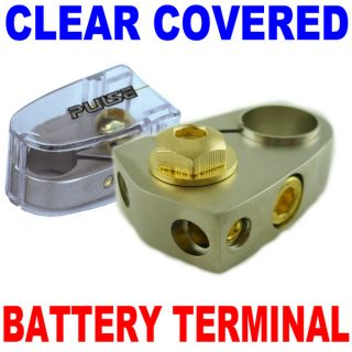 Universal Battery Terminal with Clear Cover Car New