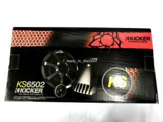 "New Kicker KS650 2 6 3 4"" 2 Way KS Component Car Speakers System 300W"