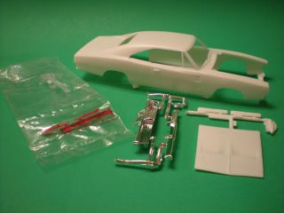 1969 Dodge Charger General Lee Slot Car Body Hood Bumper Glass Grill 1 25 Model