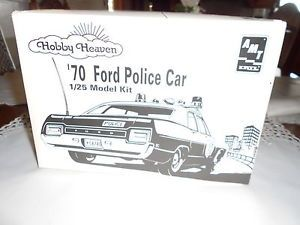 "Hobby Heaven ""70 Model Ford Police Car Decals and All"