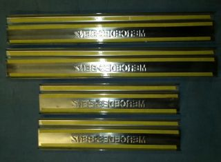 Mercedes Benz W116 Door Sill Trim Step Stainless Steel AMG Brabus Lorinser